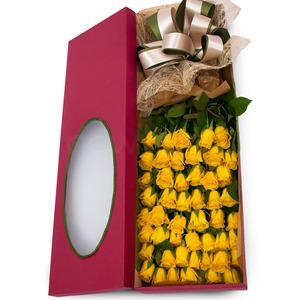 노랑장미꽃상자