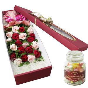 장미혼합꽃박스+사탕