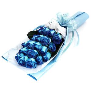 파란장미꽃다발